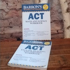 ACT practice books  (2 books reading and math)